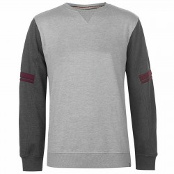 Lonsdale Heritage Crew Sweater in Light Grey