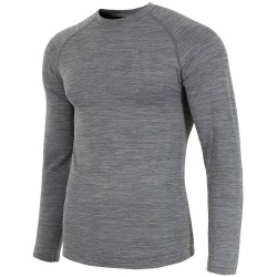MEN'S LONG SLEEVE T-SHIRT MIDDLE GRAY MELANGE