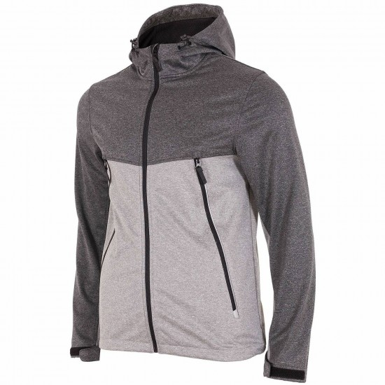 MEN'S SOFTSHELL JACKET GRAY MELANGE