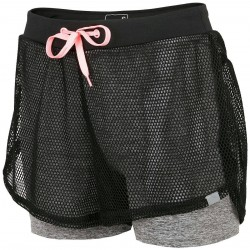 WOMEN'S ACTIVE SHORTS DARK GRAY MELANGE